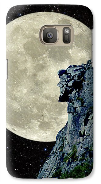 Galaxy Case featuring the photograph Man In The Moon Meets Old Man Of The Mountain Vertical by Larry Landolfi