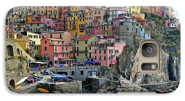 Galaxy Case featuring the photograph Manarola Cinque Terre Italy by Frozen in Time Fine Art Photography