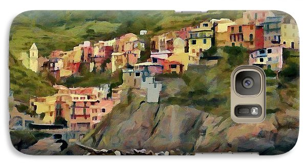 Galaxy Case featuring the painting Manarola by Jeff Kolker