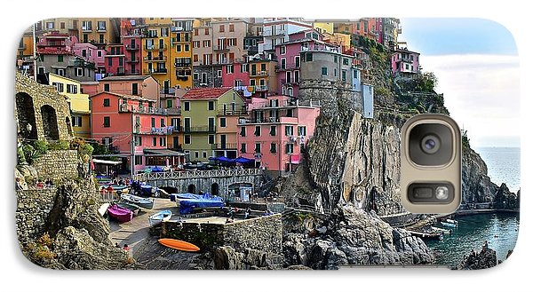 Galaxy Case featuring the photograph Manarola Version Four by Frozen in Time Fine Art Photography