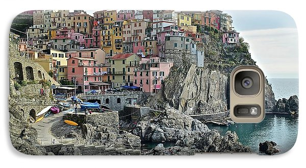 Galaxy Case featuring the photograph Manarola Version Three by Frozen in Time Fine Art Photography