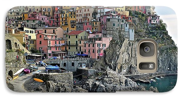 Galaxy Case featuring the photograph Manarola Version Two by Frozen in Time Fine Art Photography