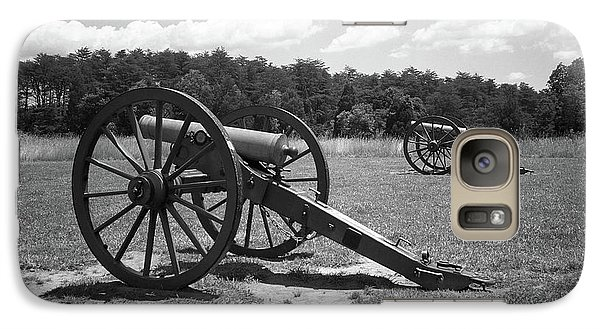 Galaxy Case featuring the photograph Manassas Battlefield 2 Bw by Frank Romeo