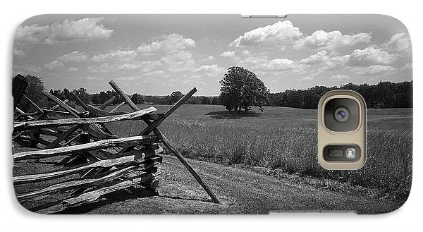 Galaxy Case featuring the photograph Manassas Battlefield Bw by Frank Romeo