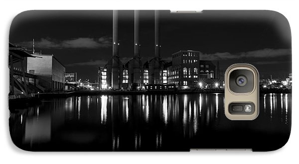 Galaxy Case featuring the photograph Manchester Street Power Station by Andrew Pacheco