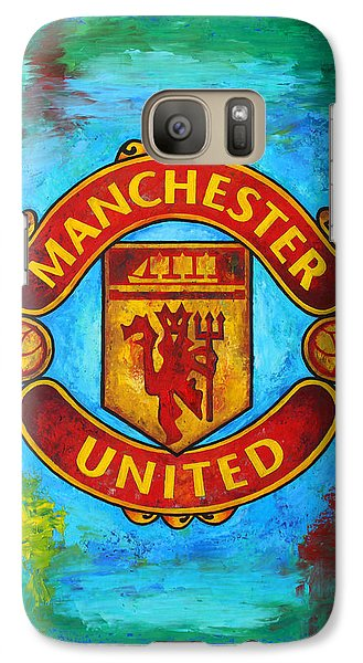 Manchester United Vintage Galaxy Case by Dan Haraga