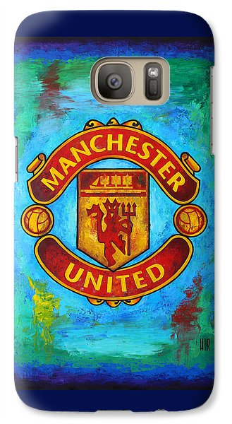 Soccer Galaxy S7 Case - Manchester United Vintage by Dan Haraga