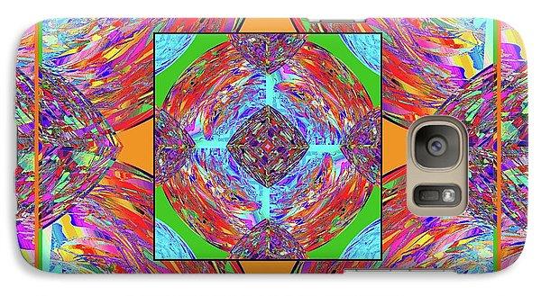 Galaxy Case featuring the digital art Mandala #1 by Loko Suederdiek
