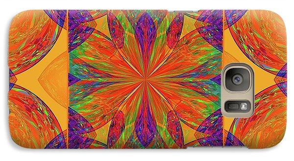 Galaxy Case featuring the digital art Mandala #2  by Loko Suederdiek
