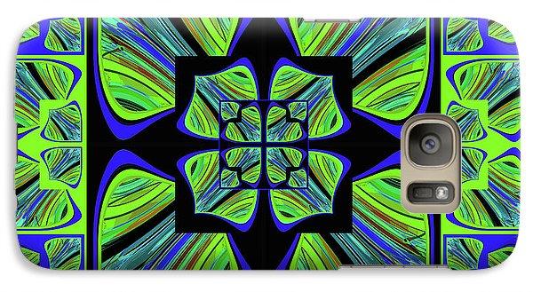 Galaxy Case featuring the digital art Mandala #22 by Loko Suederdiek