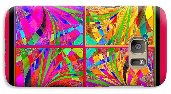 Galaxy Case featuring the digital art Mandala #25 by Loko Suederdiek