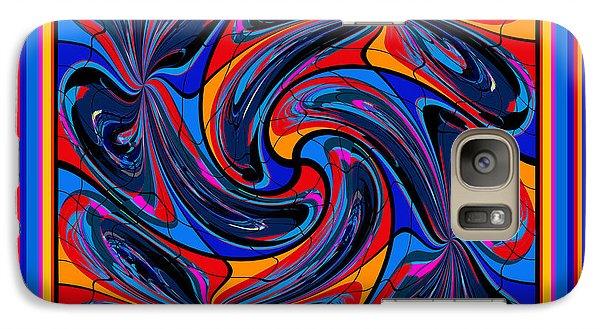 Galaxy Case featuring the digital art Mandala #3 by Loko Suederdiek