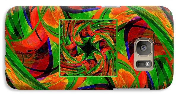 Galaxy Case featuring the digital art Mandala #36 by Loko Suederdiek