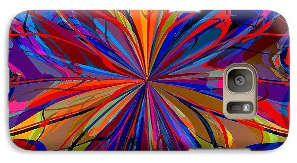 Galaxy Case featuring the digital art Mandala #4 by Loko Suederdiek