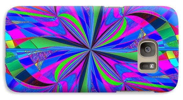 Galaxy Case featuring the digital art Mandala #46 by Loko Suederdiek