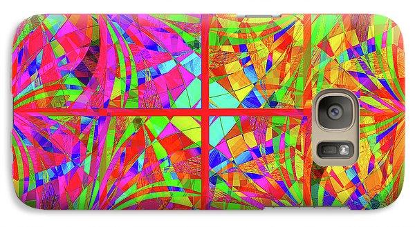 Galaxy Case featuring the digital art Mandala #48 by Loko Suederdiek