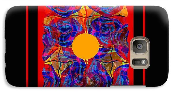 Galaxy Case featuring the digital art Mandala #5 by Loko Suederdiek