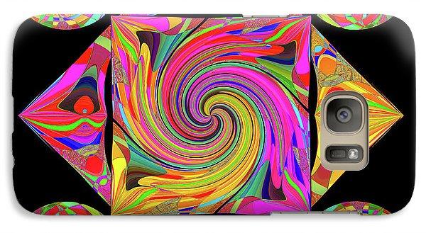 Galaxy Case featuring the digital art Mandala #50 by Loko Suederdiek