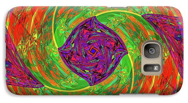 Galaxy Case featuring the digital art Mandala #55 by Loko Suederdiek