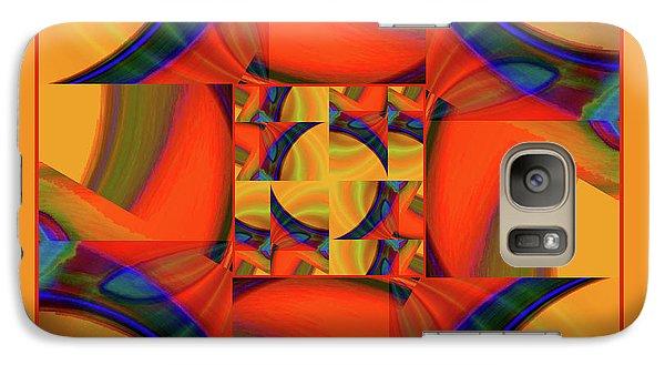 Galaxy Case featuring the digital art Mandala #56 by Loko Suederdiek