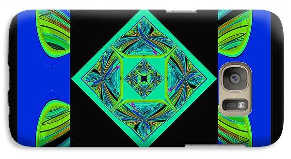 Galaxy Case featuring the digital art Mandala #6 by Loko Suederdiek