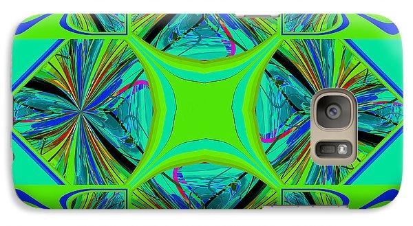 Galaxy Case featuring the digital art Mandala #7 by Loko Suederdiek