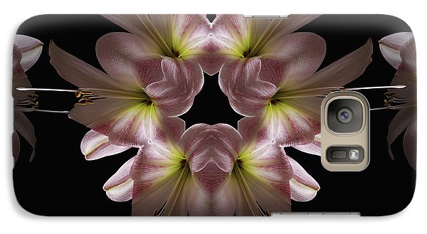Galaxy Case featuring the digital art Mandala Amarylis by Nancy Griswold