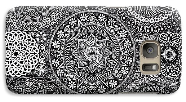 Vegetables Galaxy S7 Case - Mandala Bouquet by Matthew Ridgway