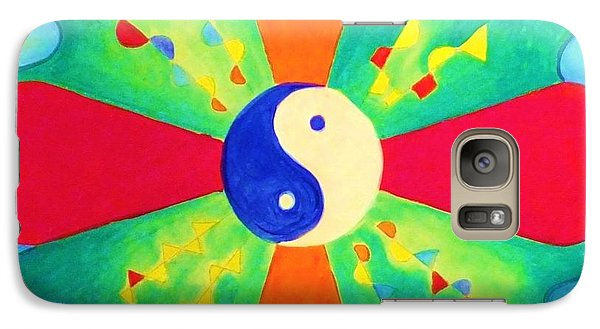Galaxy Case featuring the painting Mandala by Denise Fulmer