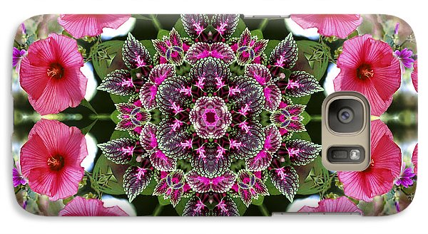 Galaxy Case featuring the digital art Mandala Pink Patron by Nancy Griswold