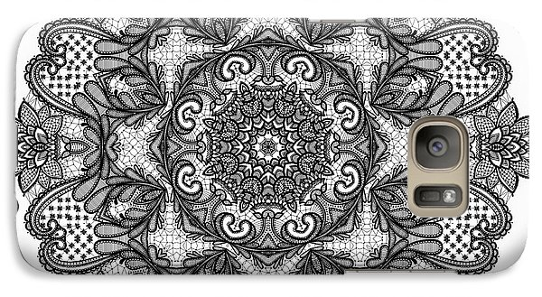 Galaxy Case featuring the digital art Mandala To Color 2 by Mo T