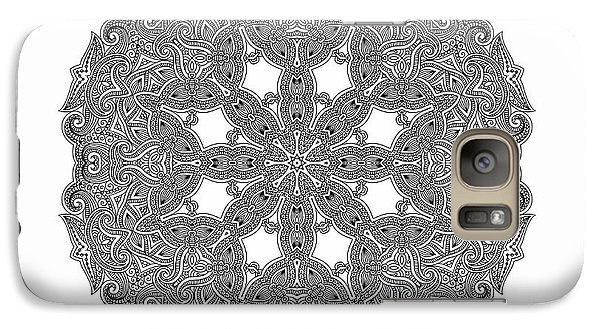 Galaxy Case featuring the digital art Mandala To Color by Mo T