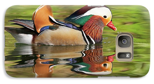 Galaxy Case featuring the photograph Mandarin Duck by Ram Vasudev