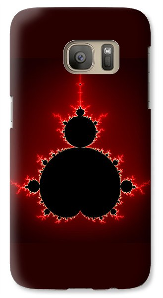 Mandelbrot Set Black And Red Square Format Galaxy S7 Case