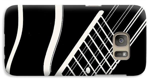 Galaxy Case featuring the digital art Mandolin Close Bw by Jana Russon
