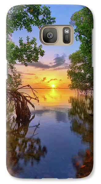 Galaxy Case featuring the photograph Mangrove Sunset From Jensen Beach Florida by Justin Kelefas