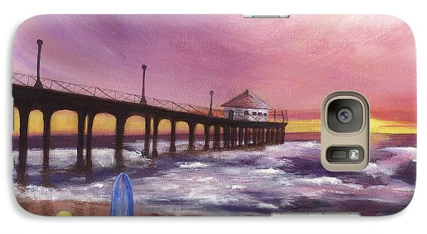 Galaxy Case featuring the painting Manhattan Beach Pier by Jamie Frier