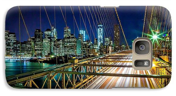 Brooklyn Bridge Galaxy S7 Case - Manhattan Bound by Az Jackson