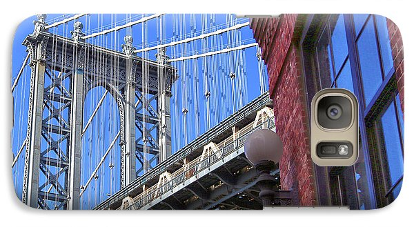 Galaxy Case featuring the photograph Manhattan Bridge by Mitch Cat