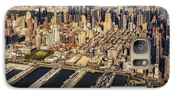 Manhattan New York City Aerial View Galaxy Case by Susan Candelario