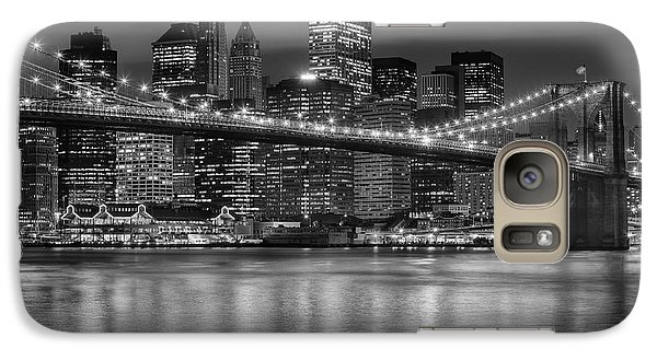Manhattan Night Skyline Iv Galaxy S7 Case
