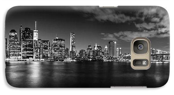 Brooklyn Bridge Galaxy S7 Case - Manhattan Skyline At Night by Az Jackson