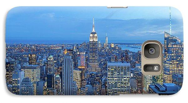 Empire State Building Galaxy S7 Case - Manhattan Skyline New York City by Az Jackson
