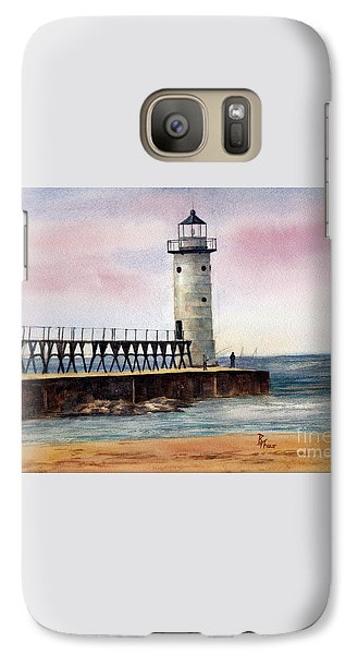 Galaxy Case featuring the painting Manistee North Pierhead Light by Brenda Thour