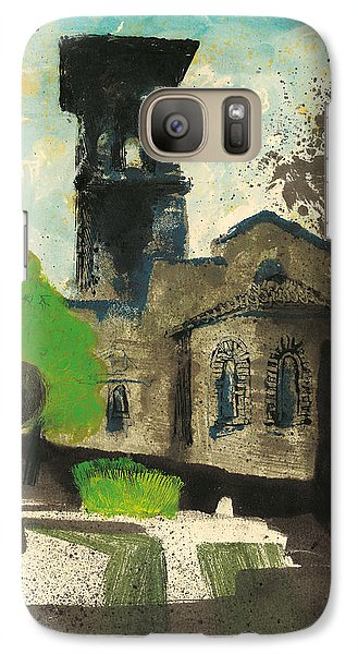 Galaxy Case featuring the painting Manosque  Provence Notre Dame De Romigier Print by Martin Stankewitz
