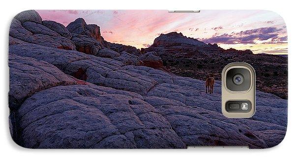 Galaxy Case featuring the photograph Man's Best Friend Sunset by Jonathan Davison