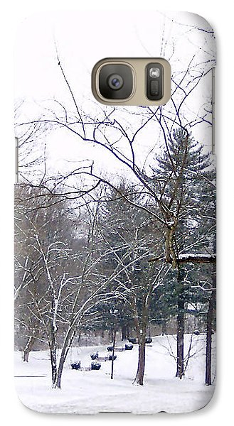 Galaxy Case featuring the photograph Mansion In The Snow by Skyler Tipton