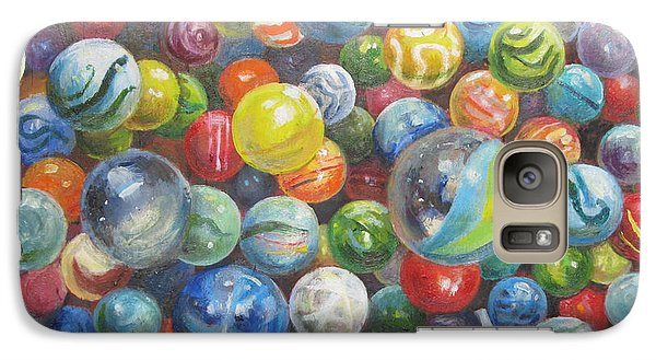 Galaxy Case featuring the painting Many Marbles by Oz Freedgood