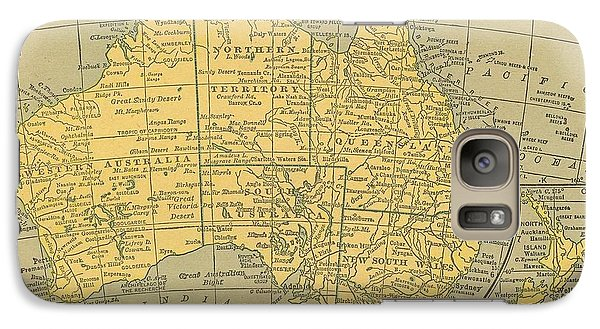 Galaxy Case featuring the drawing Map Australia by Digital Art Cafe