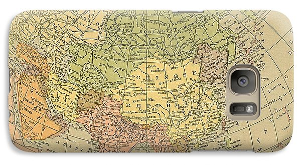 Galaxy Case featuring the drawing Map Europe by Digital Art Cafe